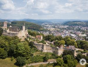 Die Burg Rötteln aus der Vogelperspektive