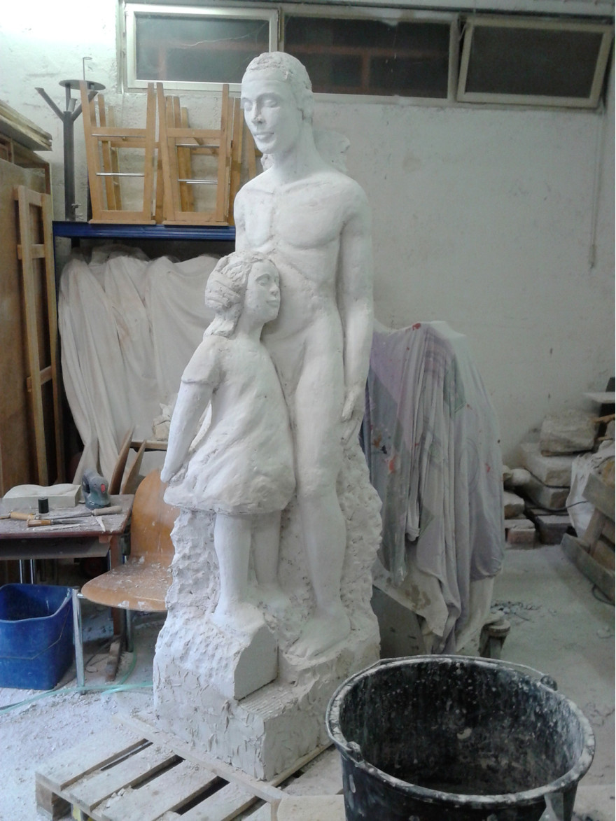 Im Atelier - Gipsmodell