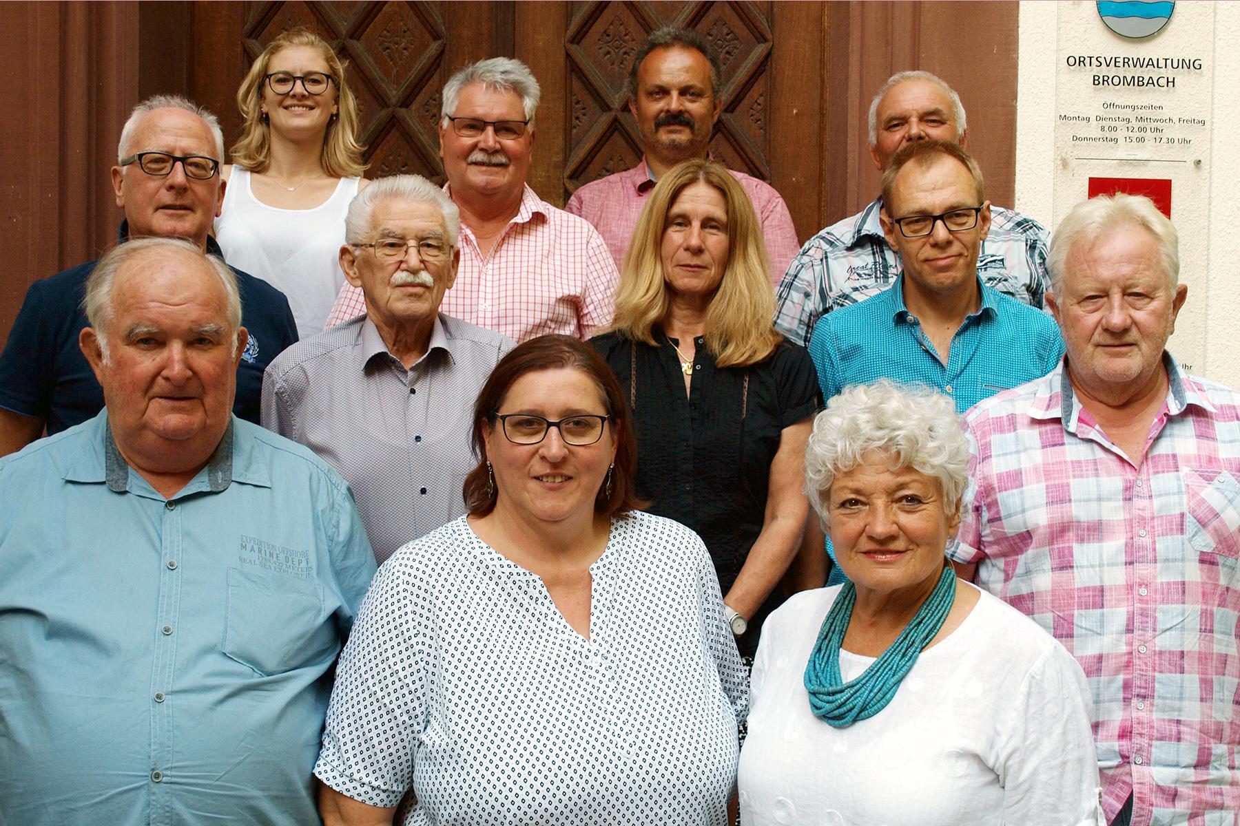Mitglieder des Ortschaftsrats Brombach (2014)