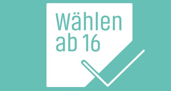 """Logo der Kampagne """"Wählen ab 16"""""""