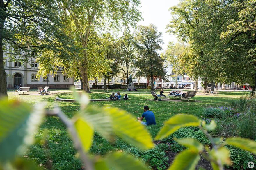 Der neu gestaltete Hebelpark