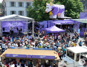 Hustle and bustle at the annual Milka chocolate feast at the old market square (picture: Florian Weiß, Mondelez International)