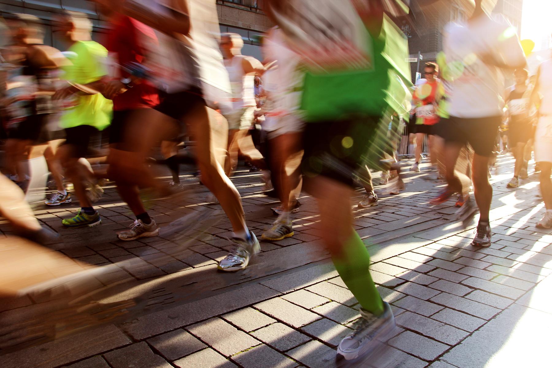 Läufer in der Innenstadt