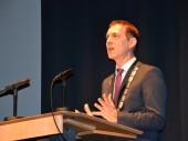 Oberbürgermeister Jörg Lutz hält die Neujahrsansprache 2019
