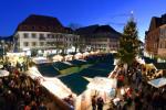 Der Lörracher Weihnachtsmarkt von oben