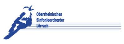 Logo Oberrheinisches Sinfonieorchester Lörrach (abstrakte Lörracher Lerche auf Notenlinien - Assoziation zur Musik aber auch regional zum Landkreis Lörrach)