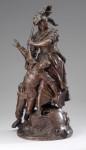 ID  ---- 3082P-305_II_Hupfer_kl.jpgPlastik Quand même: Patriotische Erinnerung in Frankreich: Die aufrechte Allegorie in Elsässer Tracht hält einen fallenden französischen Soldaten und übernimmt sein Gewehr. Die leicht überlebensgroße Skulptur des B