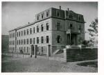 Das Städtische Krankenhaus in Lörrach vor 1956, Foto aus der Sammlung des Stadtarchivs Lörrach, StaLö2.33.1