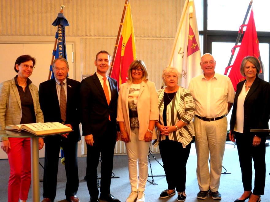 Empfang der Verantwortlichen der Partnerstädte durch Oberbürgermeister Lutz im Lörracher Rtahsu