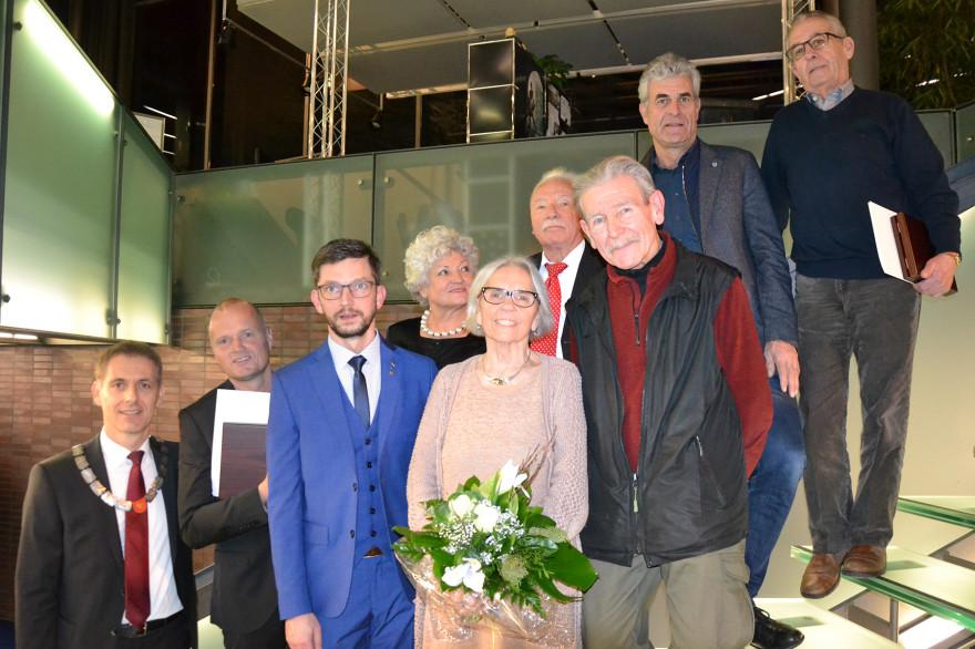 Preisträger und Laudatoren der Lisa-Rees Medaille 2018