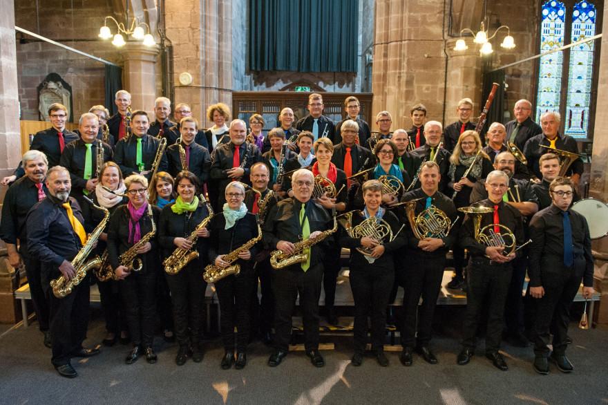 Gruppenfoto Stadtmusik in Chester