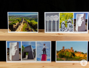 Verschiedene Postkarten mit Lörracher Motiven