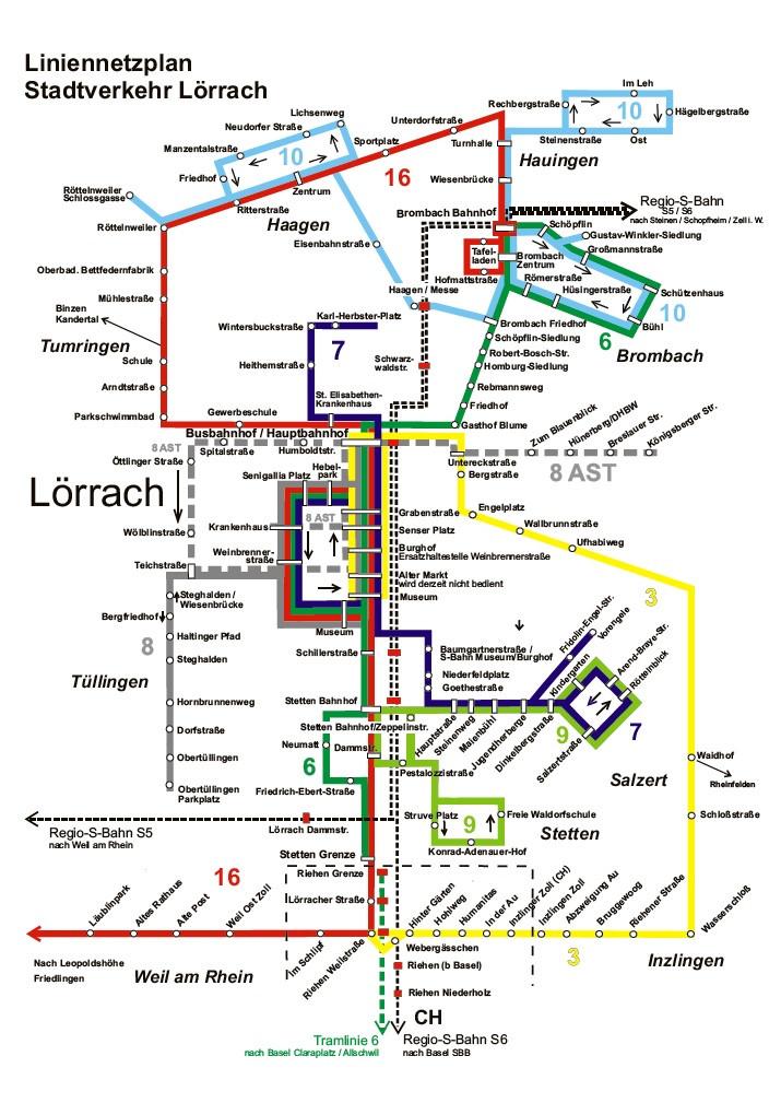 Busplan Stadt Lörrach