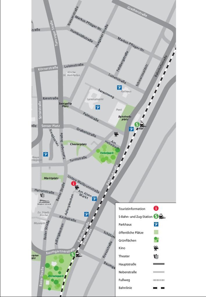 Bahnplan Stadt Lörrach