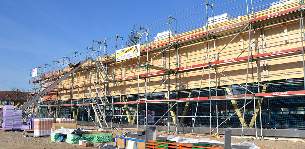 Sporthalle Brombach im Bau