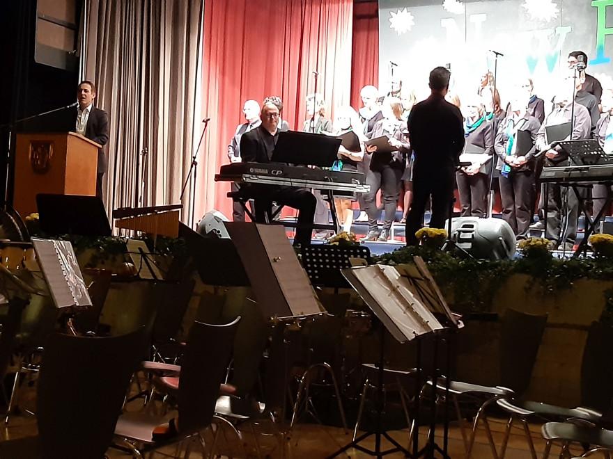 Begrüßung der Gäste aus Meerane durch Oberbürgermeister Jörg Lutz