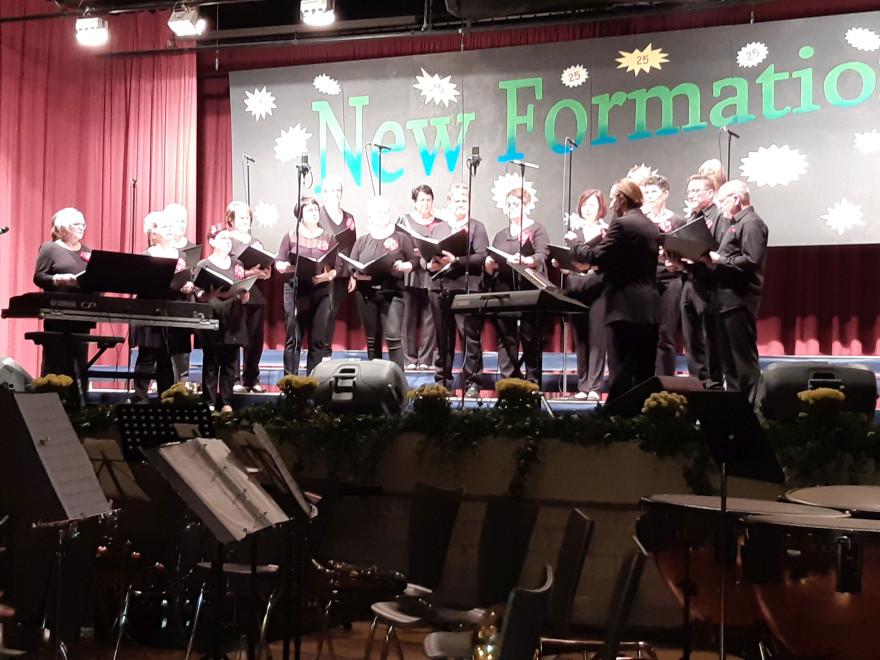 Auftritt des Chors Meracante aus Meerane beim Jubiläumskonzert
