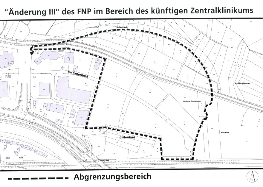 Abgrenzungsbereich Änderung III des Flächennutzungsplan ZKL