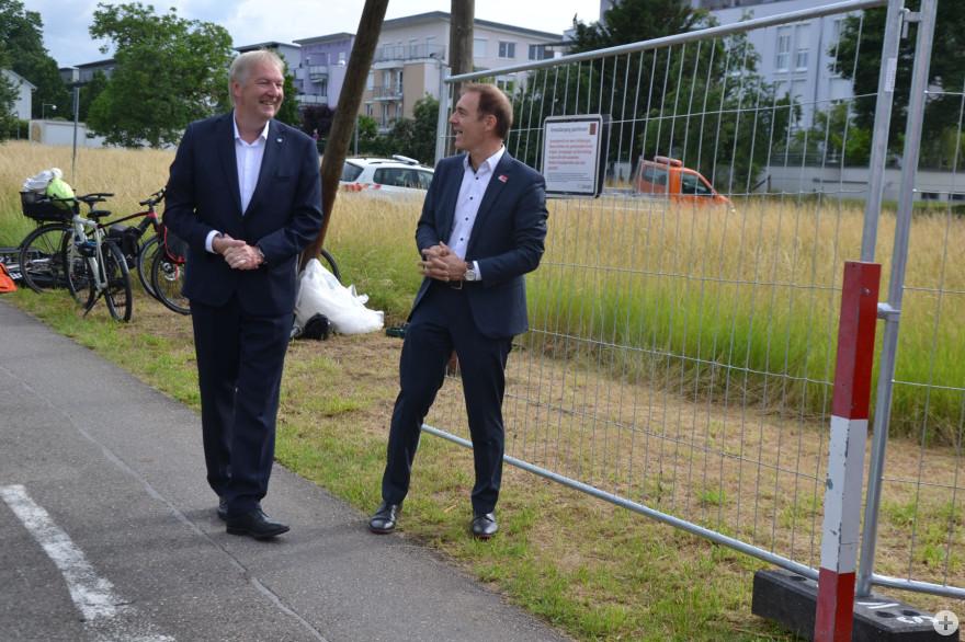 Wiederöffnung der Grenzen mit dem Riehener Gemeindepräsident Hansjörg Wilde und Oberbürgermeister Jörg Lutz
