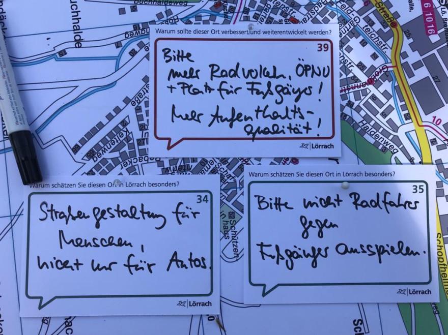Wünsche an die Stadtentwicklung in Lörrach