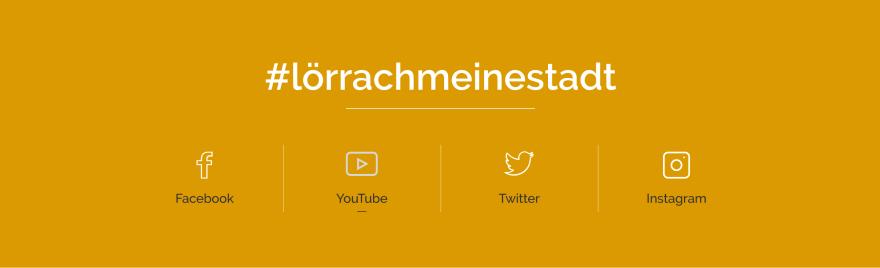 Icons zu den Sozialen Netzwerken der Stadt Lörrach