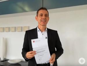 Jörg Lutz bei der digitalen Preisverleihung