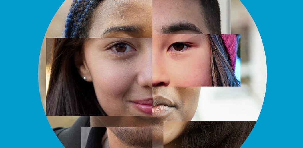 Gesichter Collage