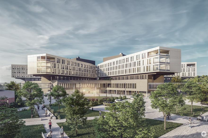 Visualisierung Campus Zentralklinikum (© a|sh sander.hofrichter architekten GmbH)
